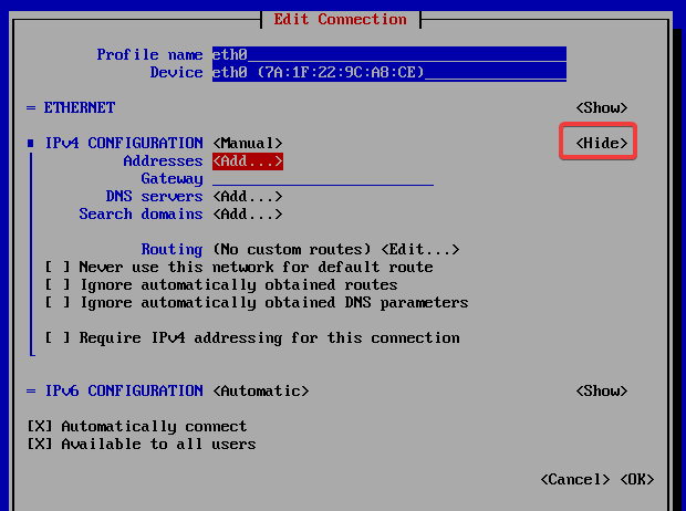 add manual ip in cent os 7 - anishmandal.in