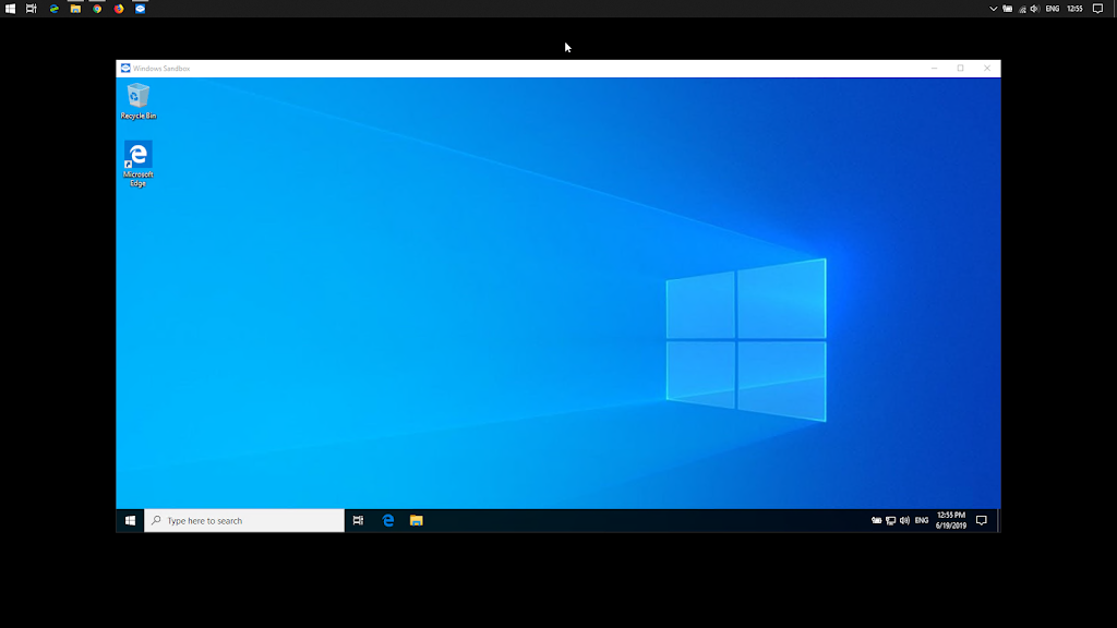 Running windows 10 Sandbox