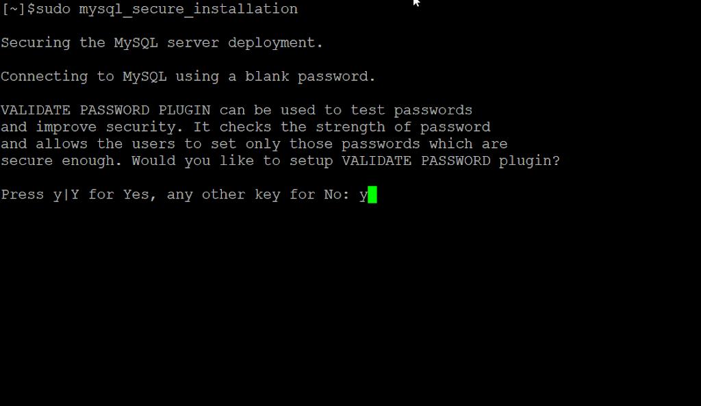 MySQL MariaDB Secure installation