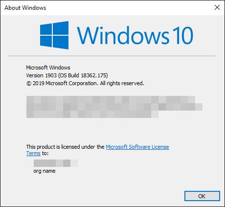 Windows 10 version 1903