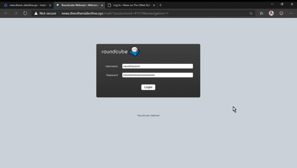 Roundcube Virtualmin Mail Login