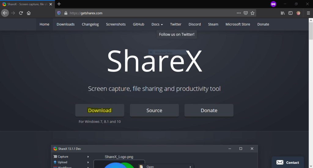 ShareX download Site