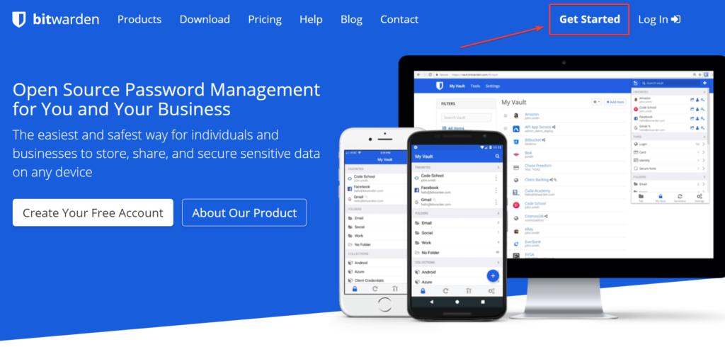 Bitwarden Home Page