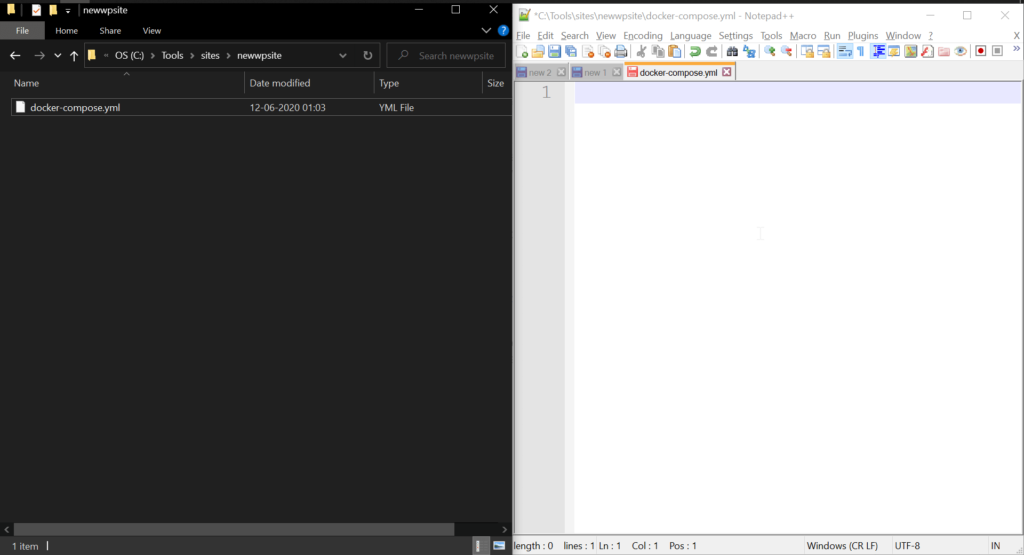 Docker Compose yaml file