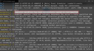 Docker WordPress Container downloaded